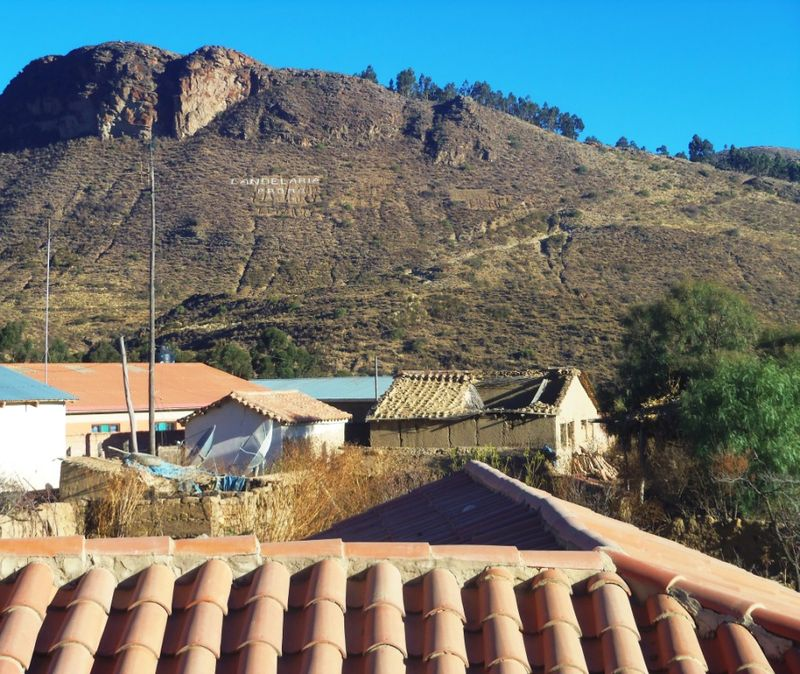 The mountain we climbed as seen from the house compressed