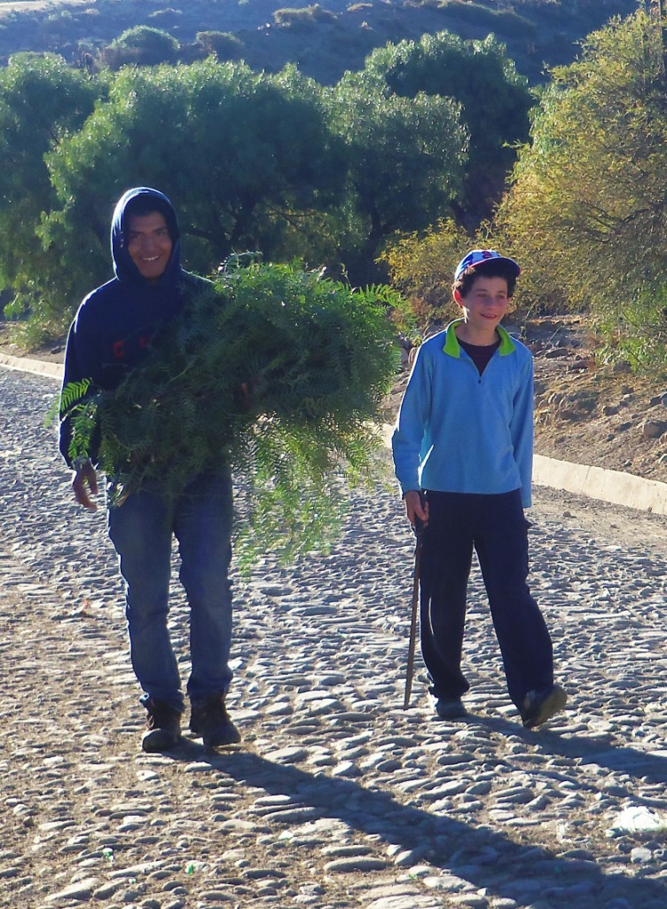 Carlos & jacky with branches and machete compressed